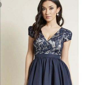 Navy Cocktail Dress ChiChi from ModCloth Size 14
